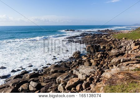 Oceanwaves Rocky  Coastline