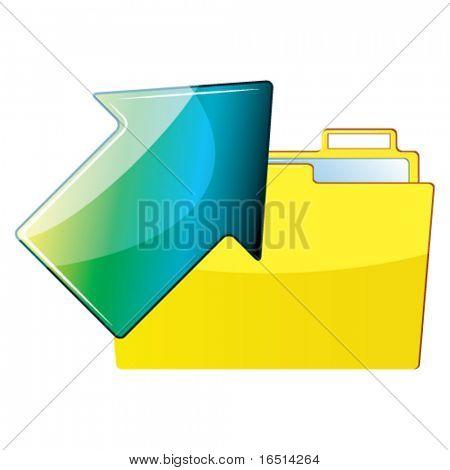 Arrow and folder