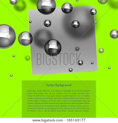 Abstract molecules graphic design. Beautiful vector illustration with glossy volumetric particles in light grey colours. Atomic scientific medical or biological background.