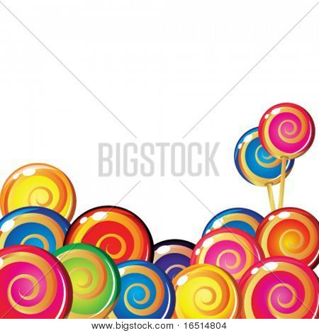 Border of lollipop.