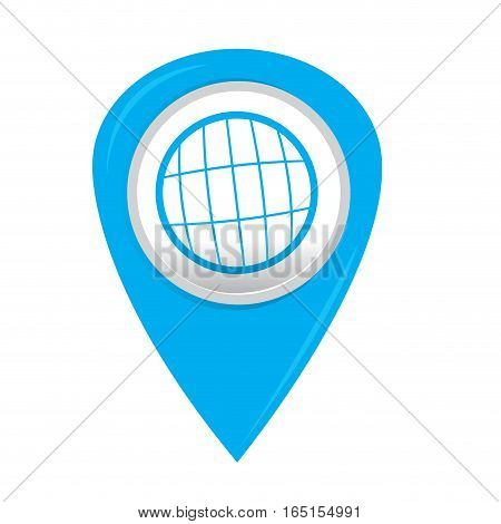 Isolated web pin with an icon, Vector illustration