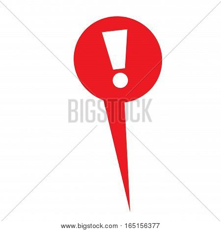 Isolated web pin with an admiration symbol, Vector illustration
