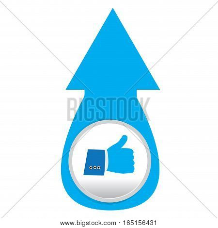 Isolated web pin with a thumb up icon, Vector illustration