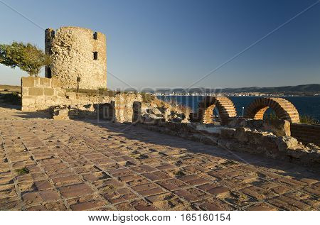 Ruins of the ancient Basilica of the Holy Mother of God Eleusa Europe Bulgaria