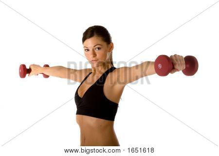 Ajuste mujer peso entrenamiento