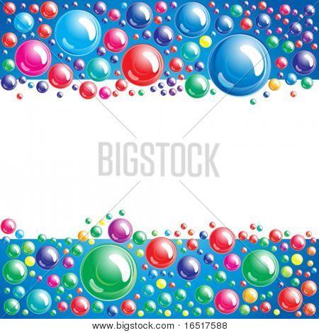 Vector - fondo de burbuja