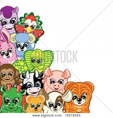Little Animals - one of the symbols of the Chinese horoscope