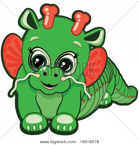 Little Dragon - one of the symbols of the Chinese horoscope