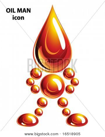 Oil man, icon, Eps10.
