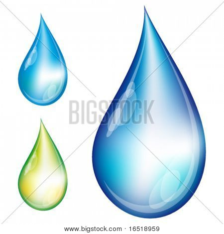set of water drops. eps10.