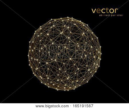 Abstract vector illustration of sphere on black background
