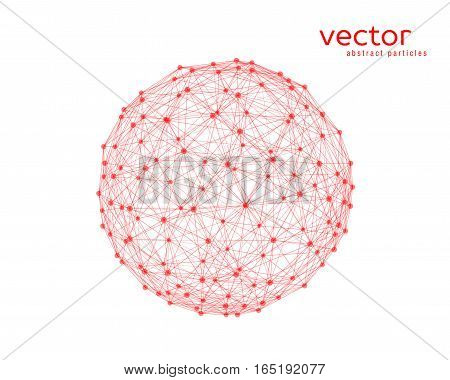 Abstract vector illustration of sphere on white background