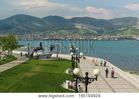 NOVOROSSIYSK RUSSIA - MAY 08.2016: the Monument