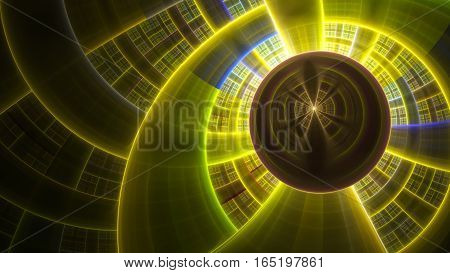 Spherical plasma. Powerful protective field. 3D surreal illustration. Sacred geometry. Mysterious psychedelic relaxation pattern. Fractal abstract texture. Digital artwork graphic astrology magic