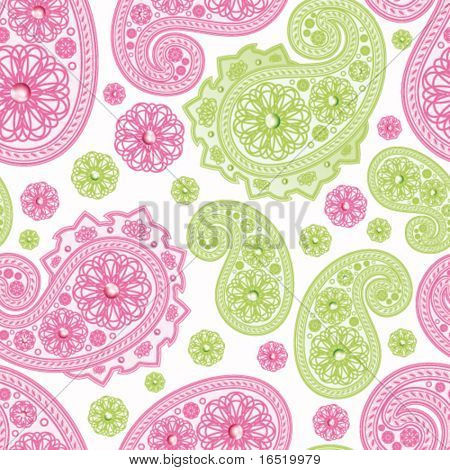 Vector Seamless Glamour Paisley background.