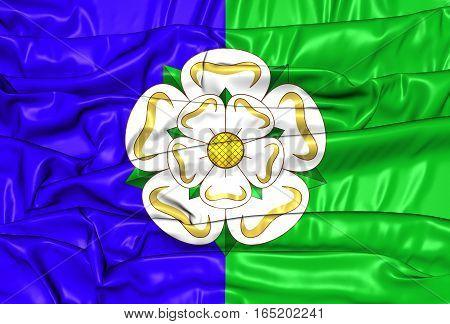 East Riding Of Yorkshire Flag, England. 3D Illustration.