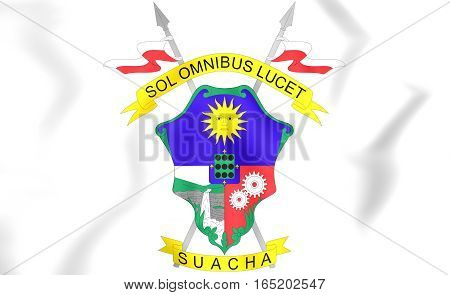 Soacha Coat Of Arms, Colombia. 3D Illustration.