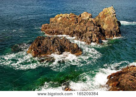 Atolls in the Pacific ocean Far East of Russia Primorye Sea of Japan