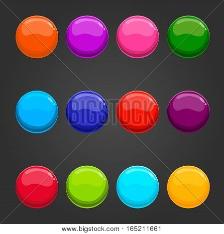Big set of vector circle web button. Game illustration