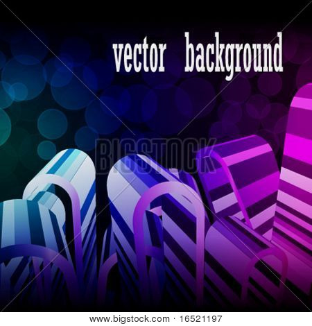 Abstract vector line