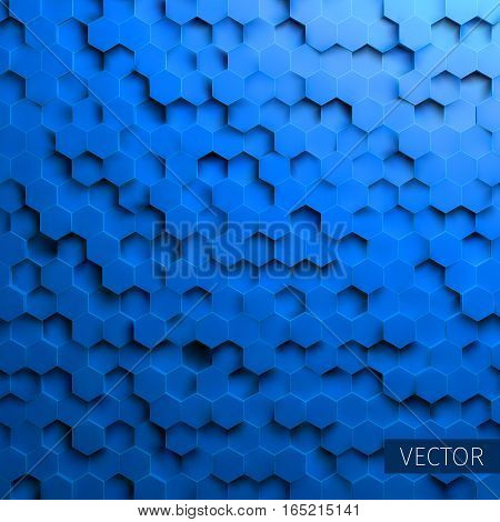 Hexagonal vector background. Technology impression. Minimal pattern for web