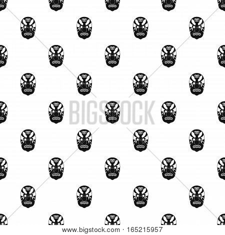 Hannya mask pattern. Simple illustration of hannya mask vector pattern for web