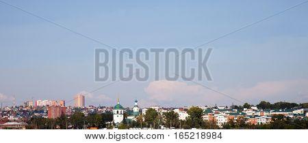 View of the Irkutsk, Russia. Pravoberezhny district.