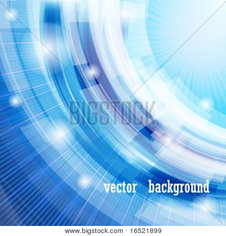 Vector techno abstract blue background