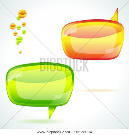 Speech bubble - vector illustration