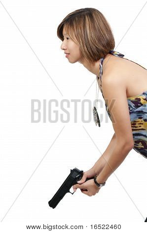 Detetive feminino asiático