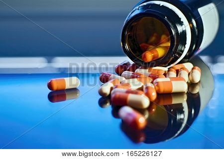 Spilled medicines ill prepared to help if needed.