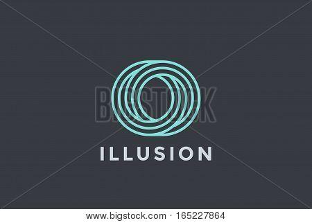 O letter Logo infinite shape design vector template Linear style.
