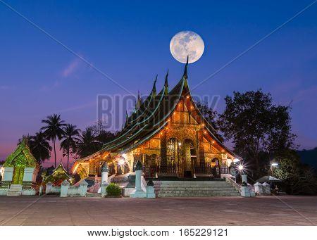 Xieng Thong Temple Landmark Of Luang Phra Bang, Laos
