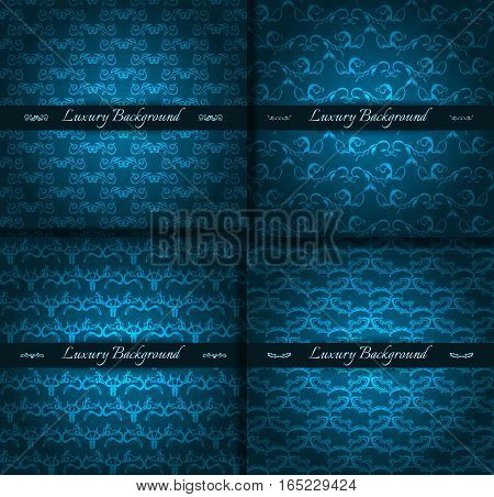 Luxury background for festive flyer or holiday packages with abstract hand drawn pattern. Vector illustration