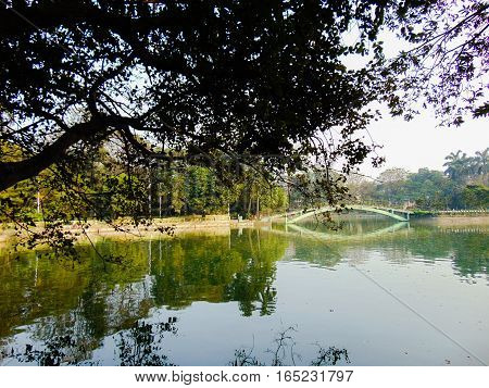 scenic landscape view at Tala Park, Kolkata India