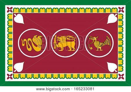 Flag of Western Province is one of the nine provinces of Sri Lanka. Vector illustration