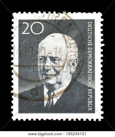 EAST GERMANY - CIRCA 1960 : Cancelled postage stamp printed by East Germany, that shows Wilhelm Pieck.