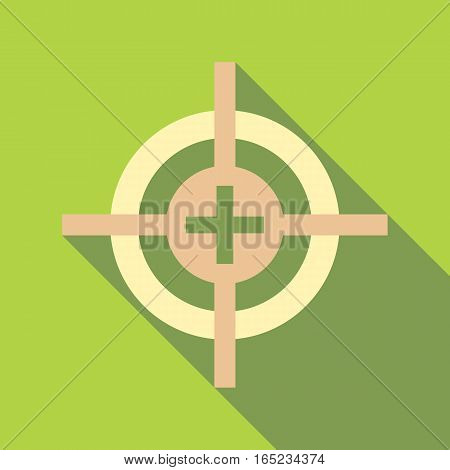 Target icon. Flat illustration of target vector icon for web