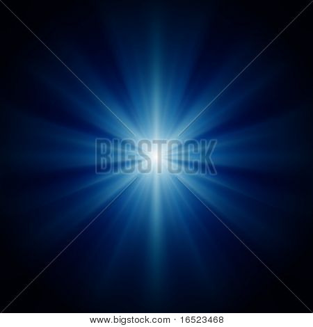 design background of blue luminous rays