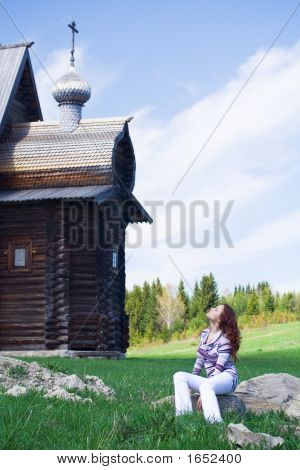Relaxed Girl At Rural