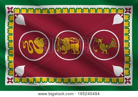 Flag of Western Province is one of the nine provinces of Sri Lanka. 3d illustration