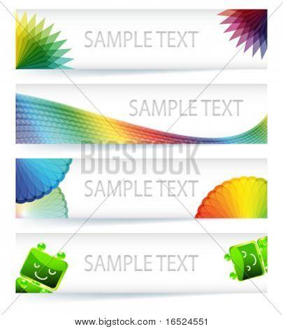 Multicolor gamut banner design in eps10 vector format.
