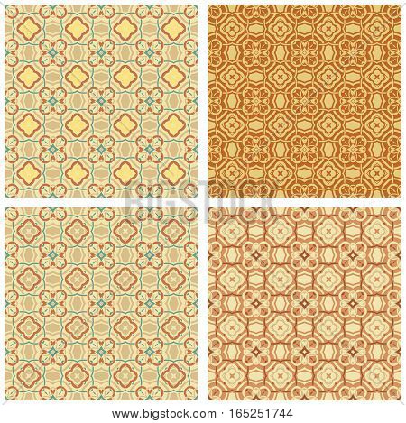 Vintage set elements for seamless vector patterns. Elegant luxury damask ornament. Endless texture for wallpaper, surface textures, pattern fills, web page background