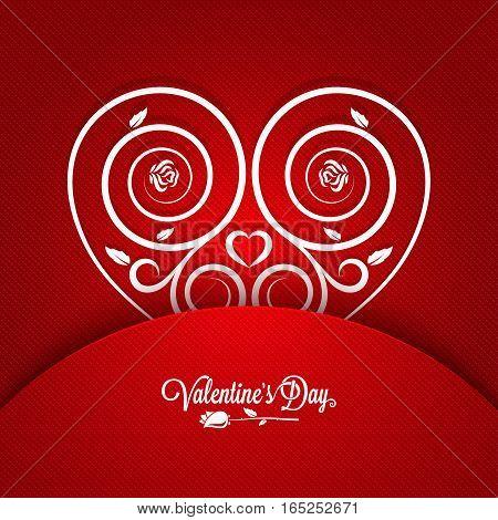 Valentines Day Vintage Card Ornament Design Background. 10 eps