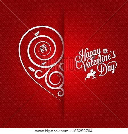 Valentines Day Vintage Card Ornate Design Background 10 eps