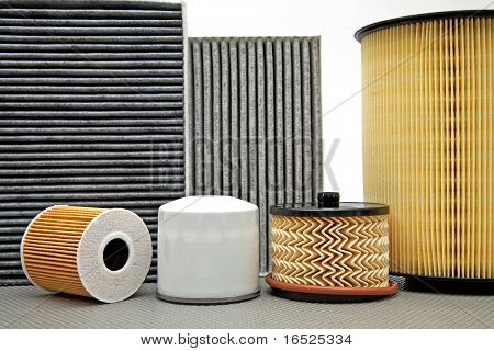 six various Car Filters