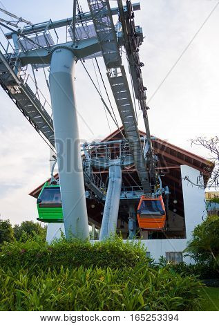The cable car to the island of Vinpearl, Nha Trang, Vietnam