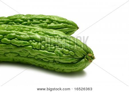 Bitter Melons isolated on white