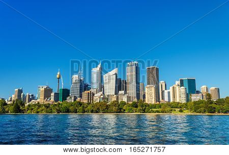 Skyline of Sydney central business district - Australia, New South Wales