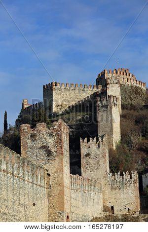 Soave Verona Ancient Castle With Medieval Walls
